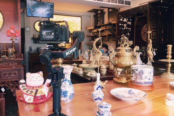 Hậu trường ghi hình, chụp ảnh bàn thờ Tận Tâm